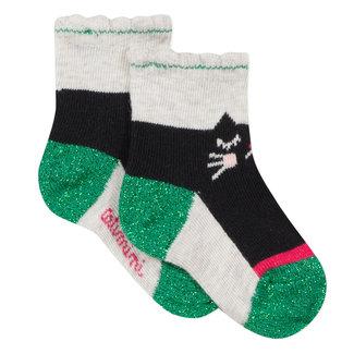 Cat jacquard socks