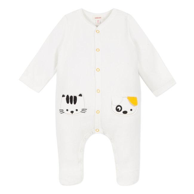 Velvet terry white pyjamas