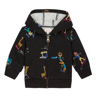 Zip ski sweatshirt with printed foamback knit