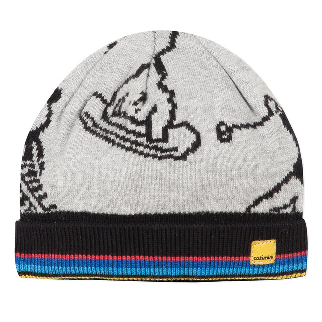 Llama jacquard knitted hat