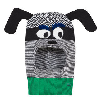 Knit dog balaclava
