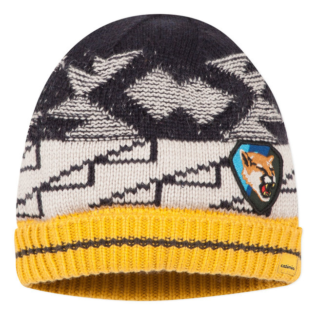 Knitted hat with graphic jacquard
