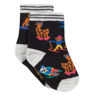 Fun animal jacquard socks
