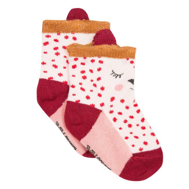 Panther jacquard socks
