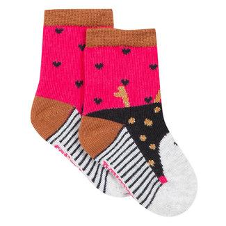 Skunk jacquard socks