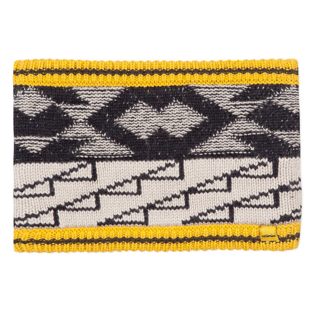 Knitted snood with graphic jacquard