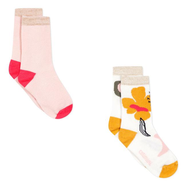 Set of 2 pairs of graphic jacquard socks