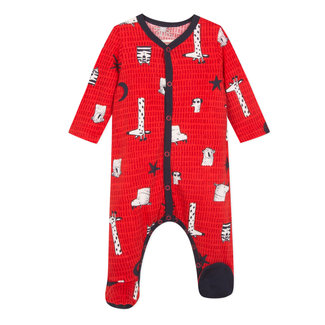 Animal print jersey pyjamas