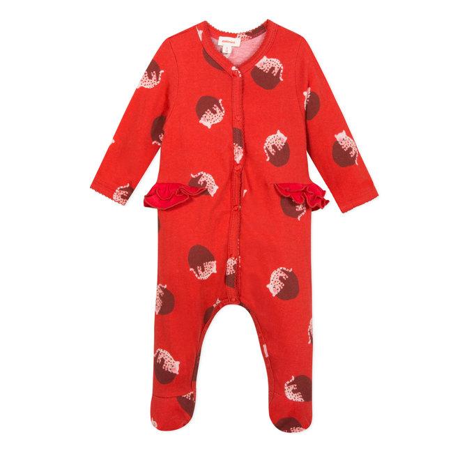 Mini panther printed jersey pyjamas