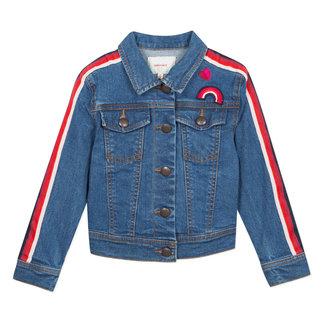 CATIMINI Denim jacket with tape details