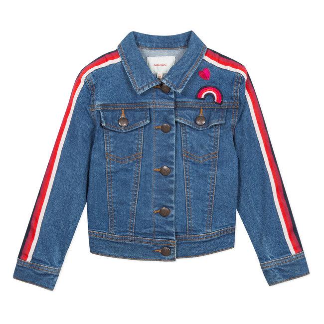 Denim jacket with tape details