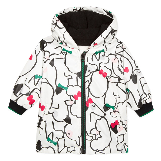cats&dogs printed rubber cloak jacket