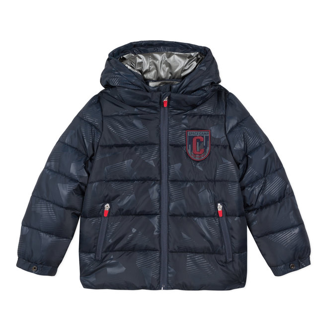 Semi-plain padded puffa jacket