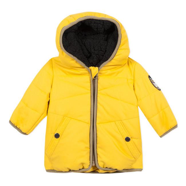 Matt yellow coated jacket