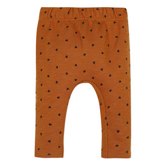 Heart print fleece neo-jogging bottoms