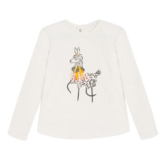 Glittery T-shirt with llama motif