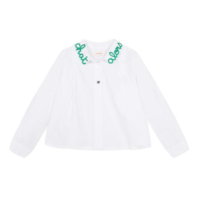 White poplin blouse