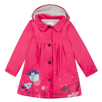 Fleece pink lined raincoat