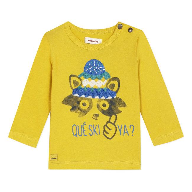 CATIMINI Yellow T-shirt with fun image