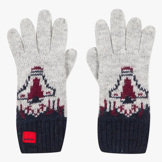 Space rocket knitted gloves