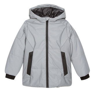 Reflective fleece-lined coated parka