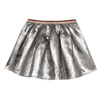 CATIMINI Reversible skirt in silver jacquard