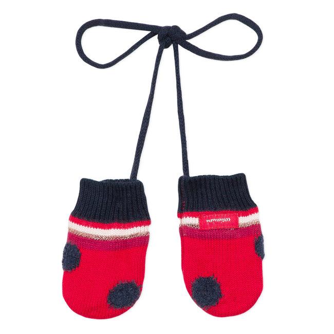 CATIMINI POlka dot knitted mittens