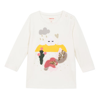 Sequin simple landscape T-shirt
