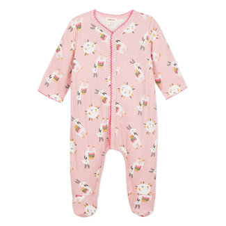 Llama print rib stitch pyjamas