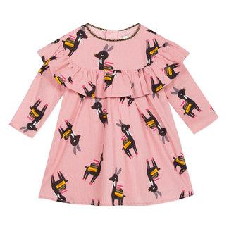 Llama print crepe dress