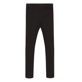 Plain black leggings