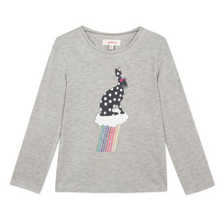 Glittery jersey T-shirt with rabbit motif