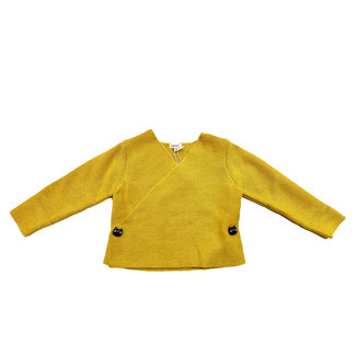 Yellow knit newborn bodysuit