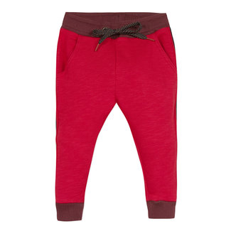 Slub fleece jogging bottoms with tape details