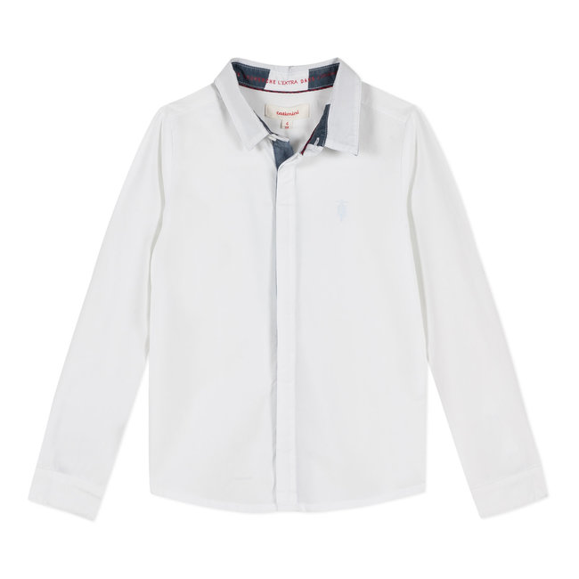 CATIMINI WHITE POPLIN SHIRT
