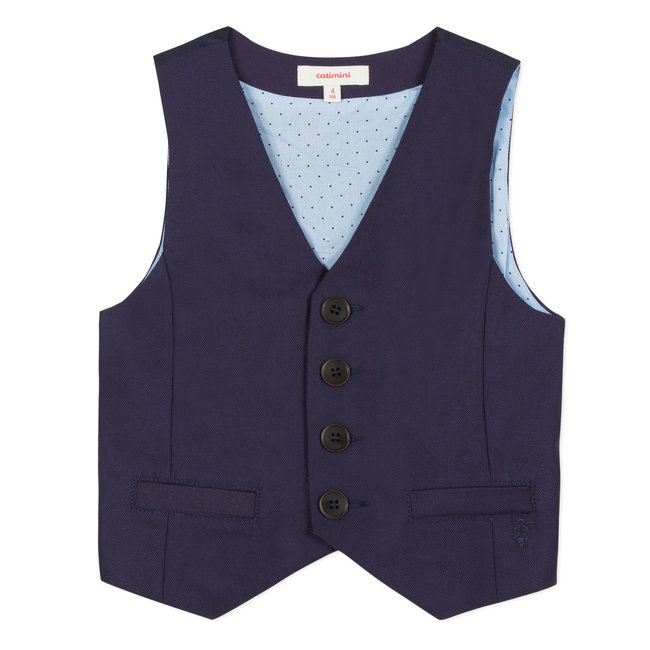 CATIMINI NAVY SUIT VEST