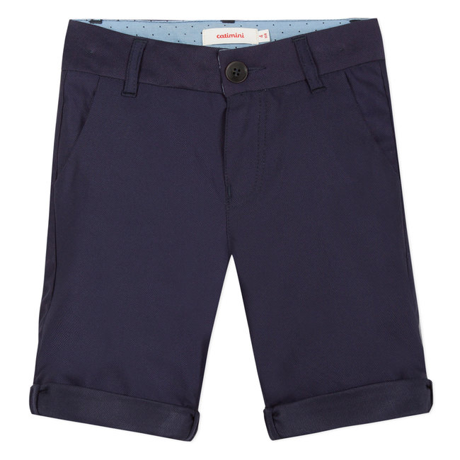NAVY BERMUDA SUIT SHORTS