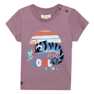Baby boy's purple T-shirt with printed motif