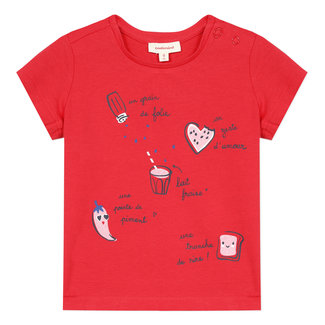 Baby girl's T-shirt with recipe motif
