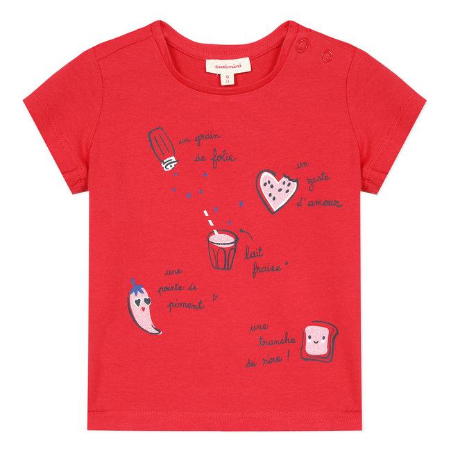 Baby girl's T-shirt with recipe motif