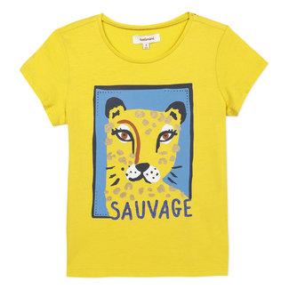 Girl's T-shirt with tiger motif