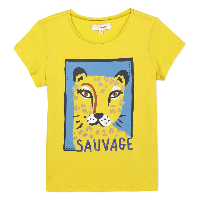 Girl's T-shirt with tiger motif