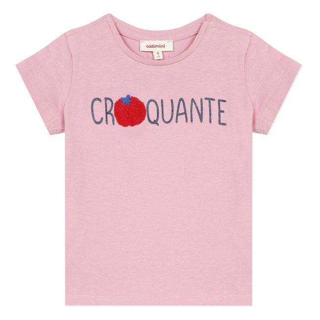 Baby girl's T-shirt with message and motif