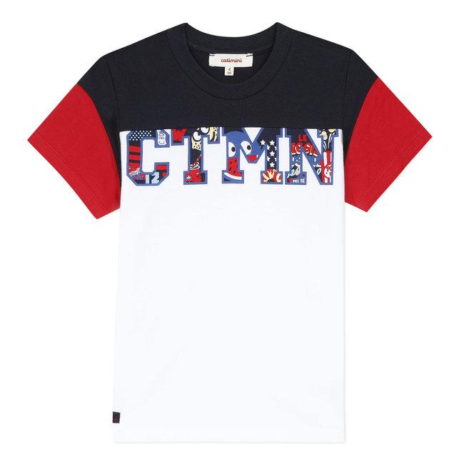 Boy's white T-shirt with motif