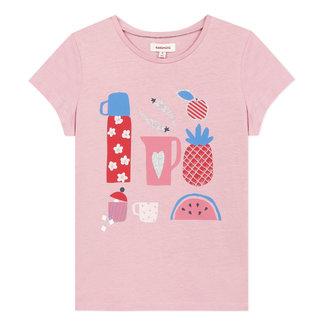 Girl's T-shirt with fruit motif