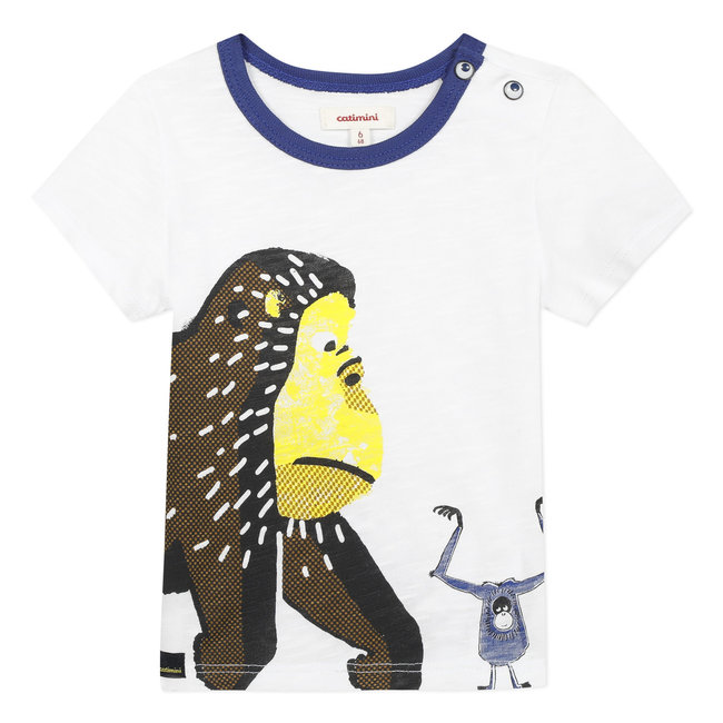 Baby boy's T-shirt with motif on front and back