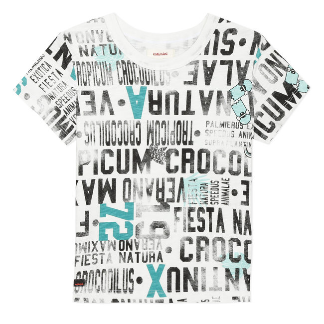 Boy's T-shirt with printed text