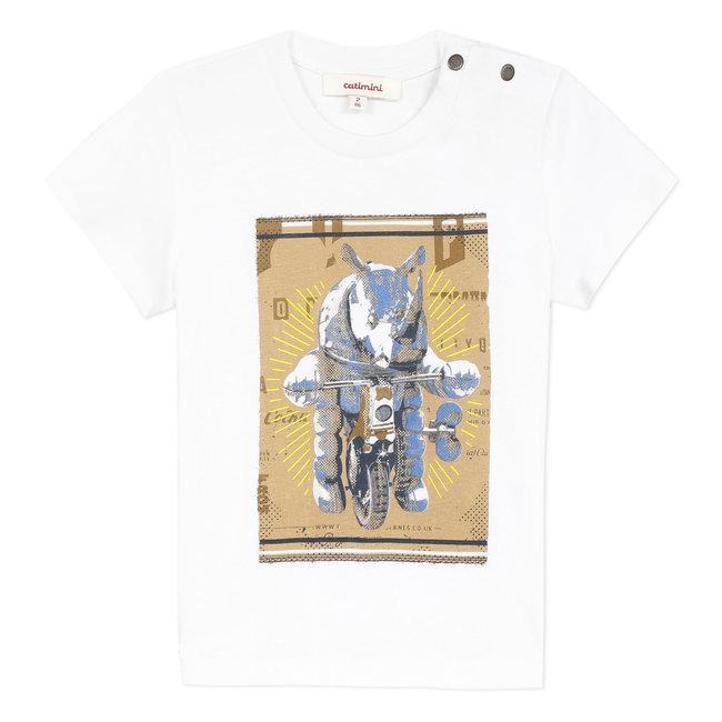Boy's T-shirt with rhino motif
