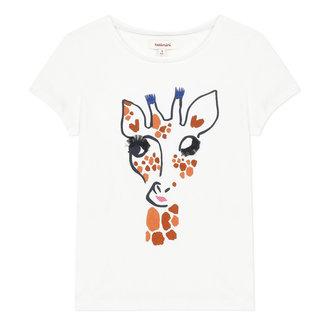 Girl's T-shirt with giraffe motif