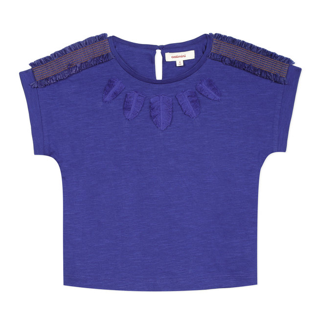 CATIMINI Girl's T-shirt with fringed braids